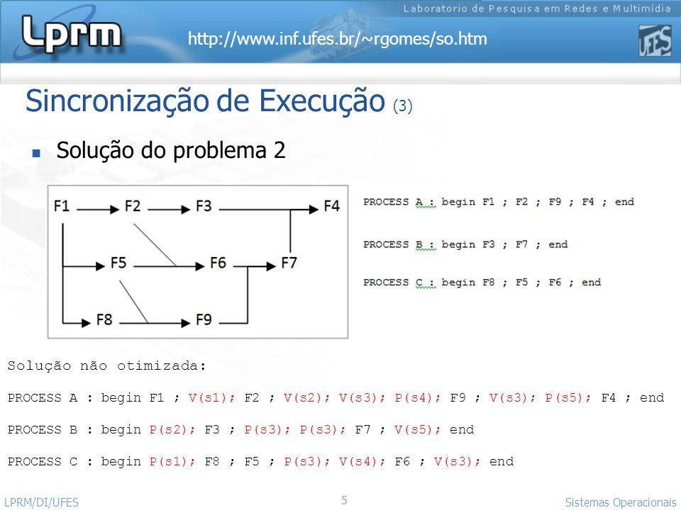 Sincronização de Execução (3)