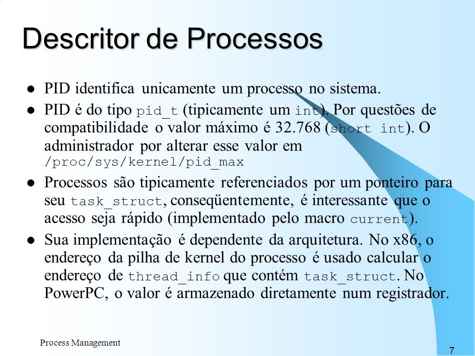 Descritor de Processos