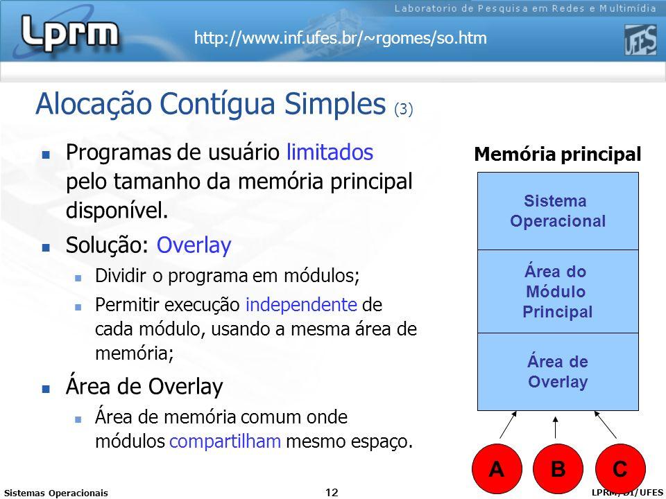 Alocação Contígua Simples (3)
