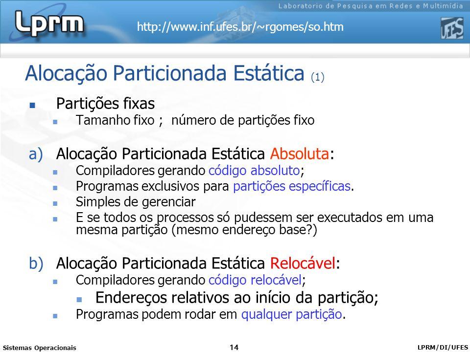 Alocação Particionada Estática (1)