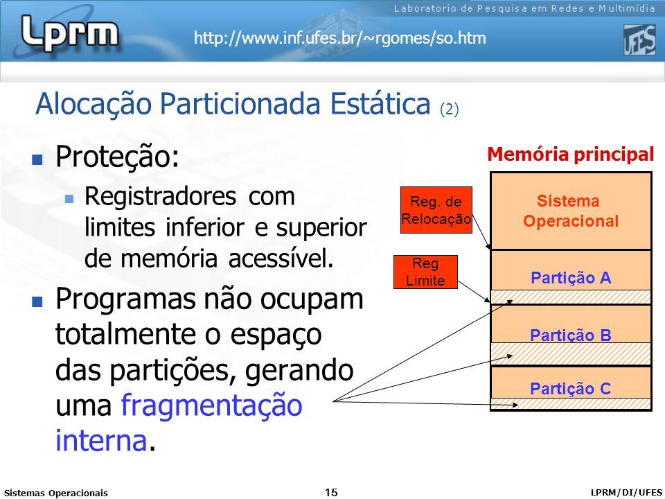 Alocação Particionada Estática (2)