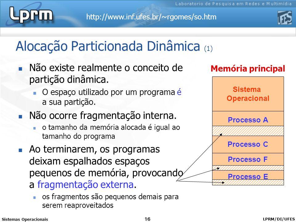 Alocação Particionada Dinâmica (1)