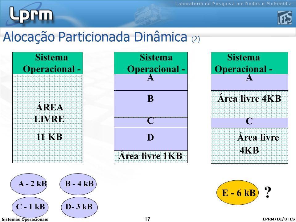 Alocação Particionada Dinâmica (2)
