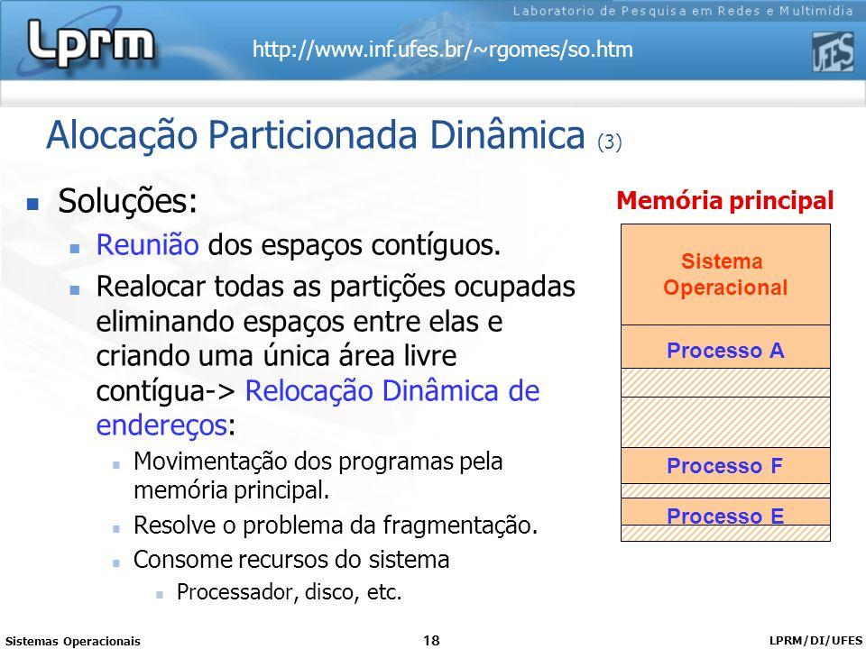 Alocação Particionada Dinâmica (3)