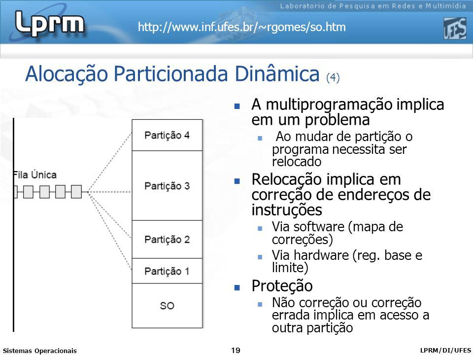 Alocação Particionada Dinâmica (4)