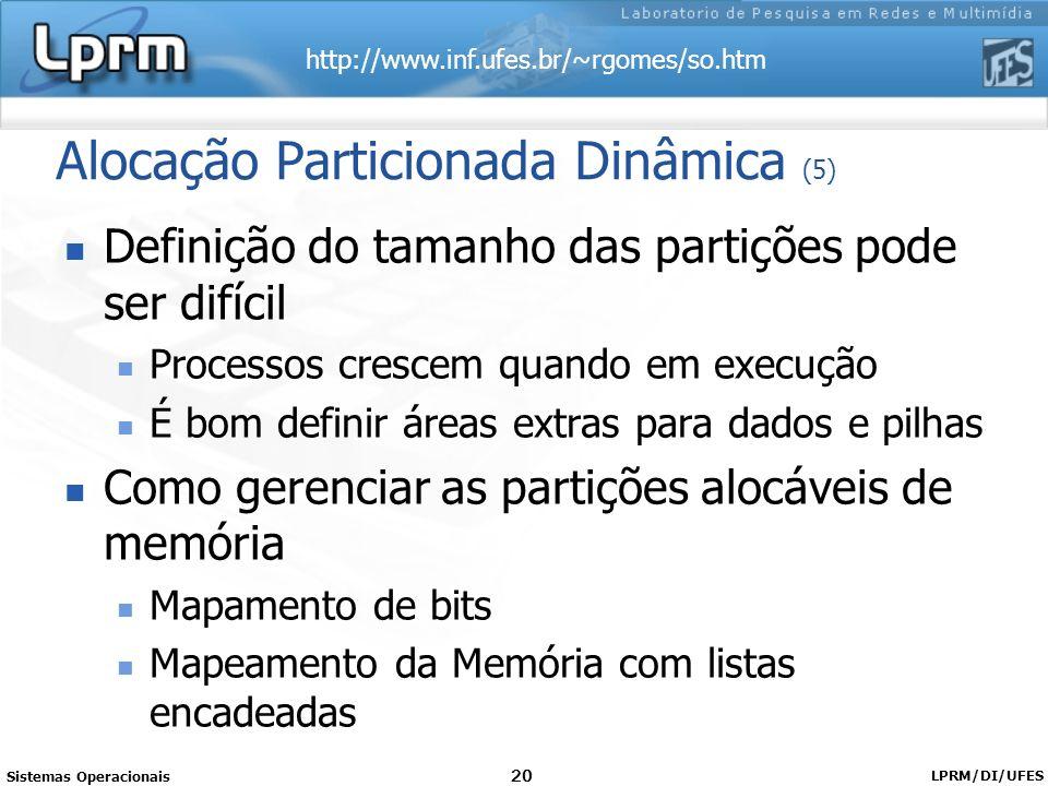 Alocação Particionada Dinâmica (5)
