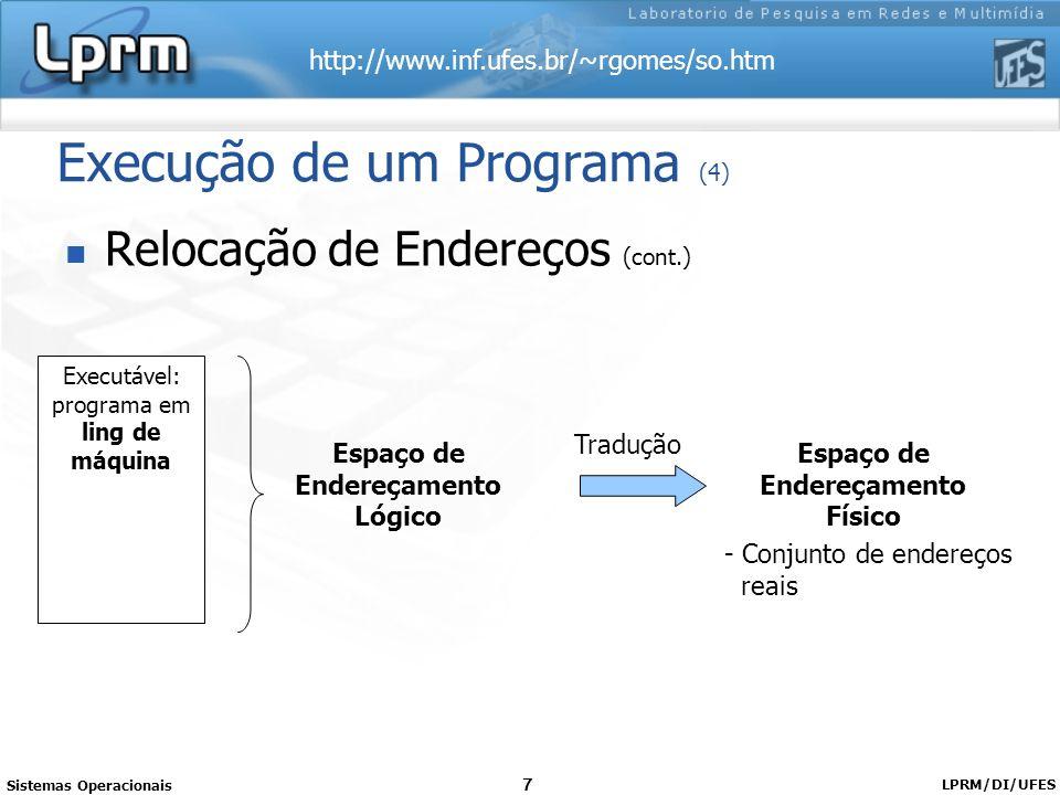 Execução de um Programa (4)