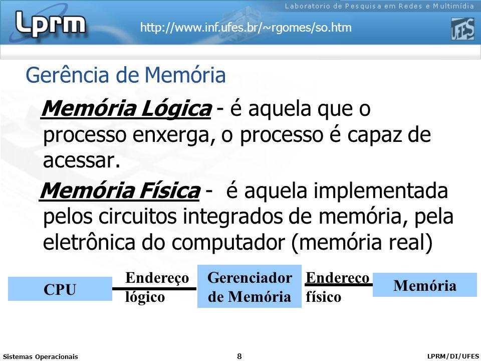 Gerenciador de Memória