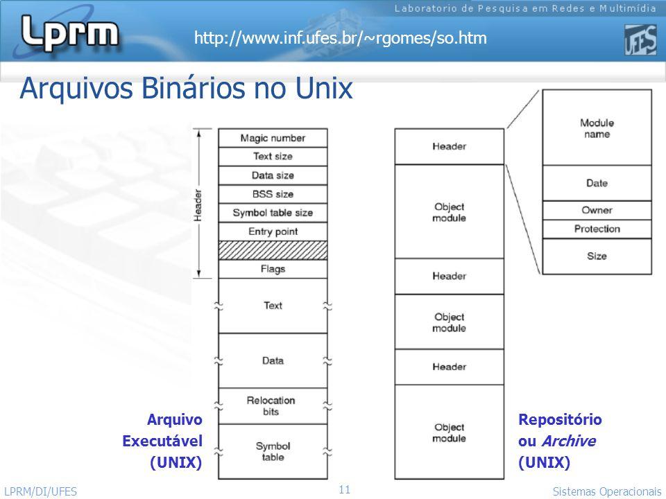 Arquivos Binários no Unix