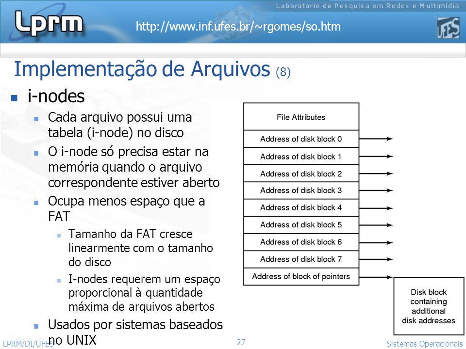 Implementação de Arquivos (8)