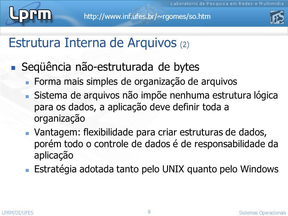 Estrutura Interna de Arquivos (2)
