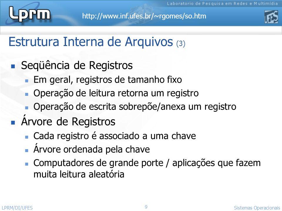 Estrutura Interna de Arquivos (3)