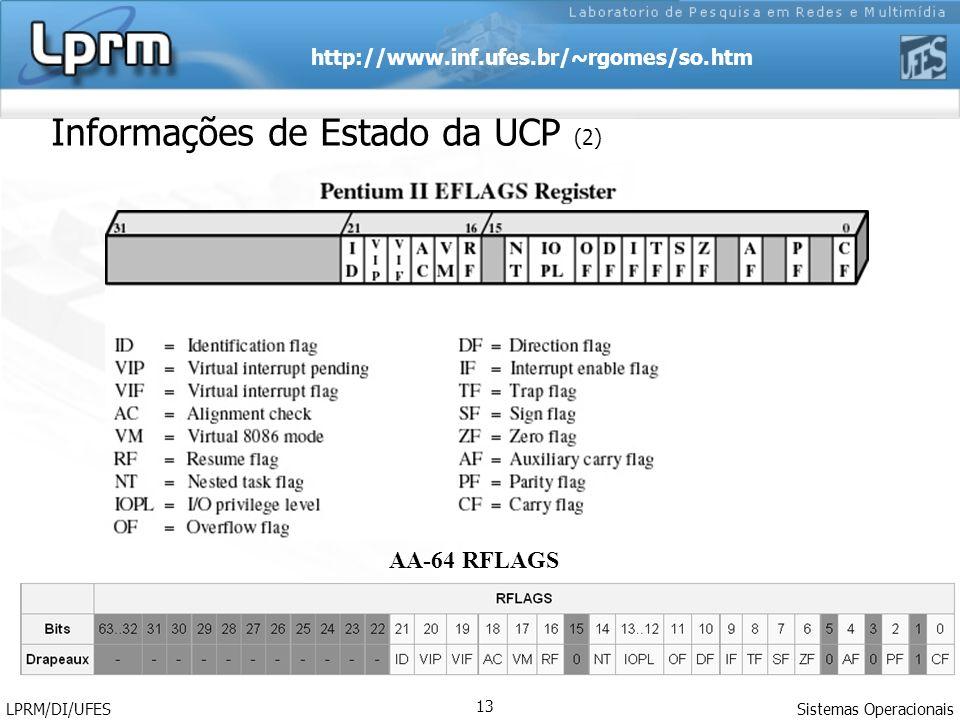 Informações de Estado da UCP (2)