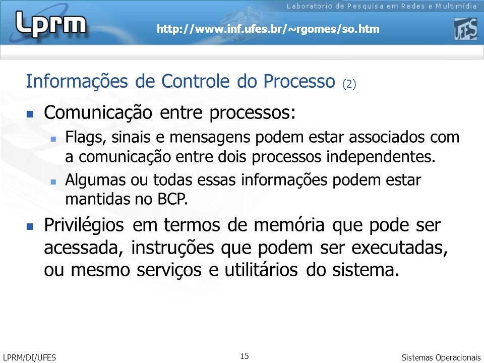 Informações de Controle do Processo (2)