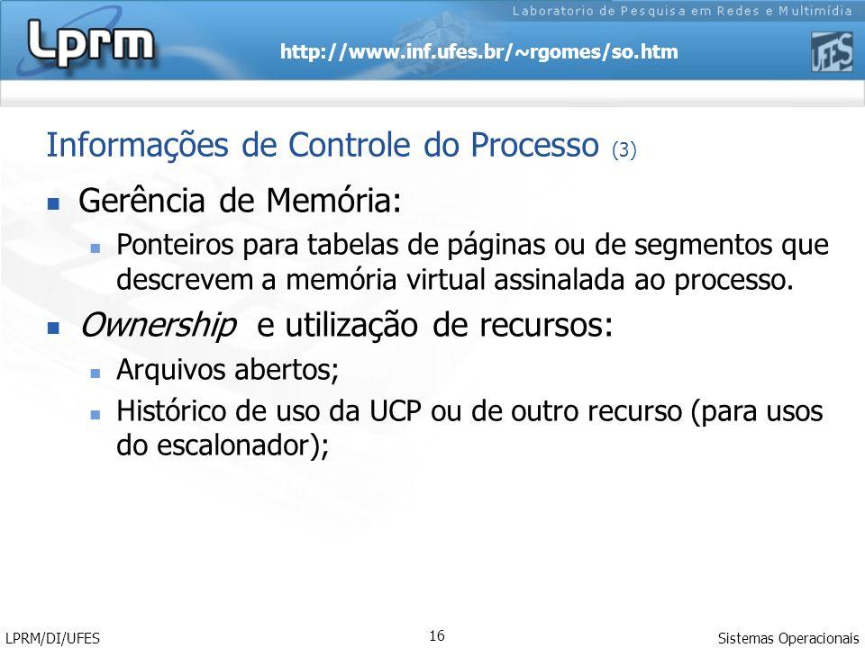 Informações de Controle do Processo (3)