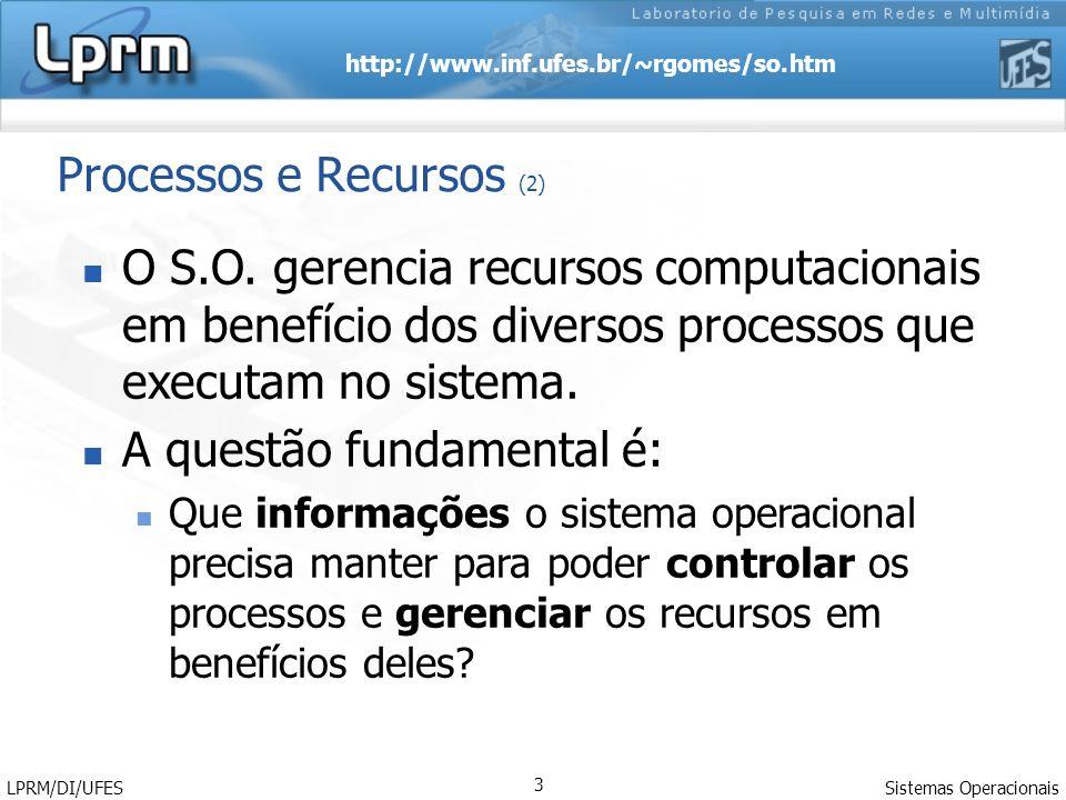 Processos e Recursos (2)