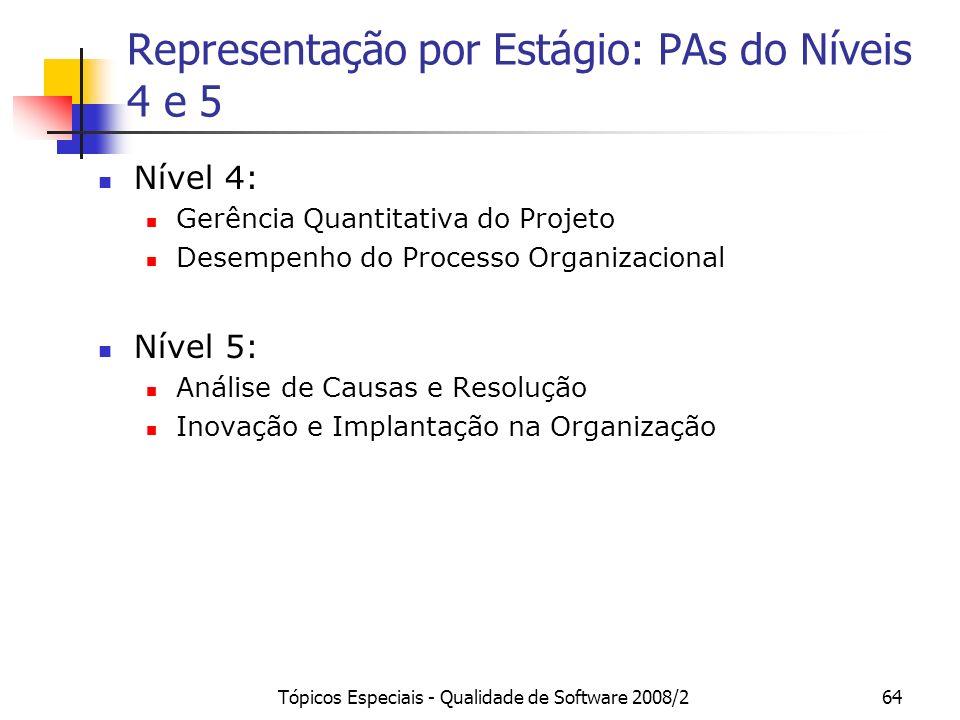 Representação por Estágio: PAs do Níveis 4 e 5