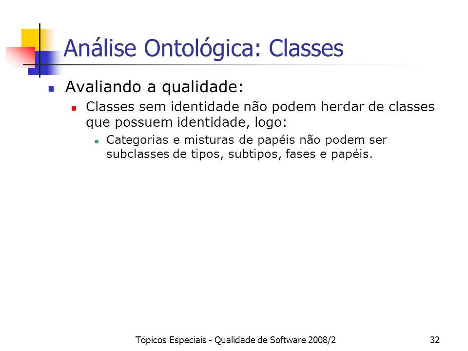 Análise Ontológica: Classes