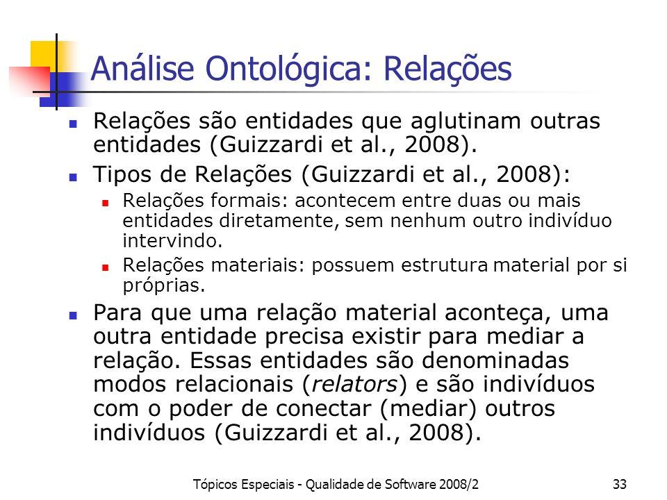 Análise Ontológica: Relações