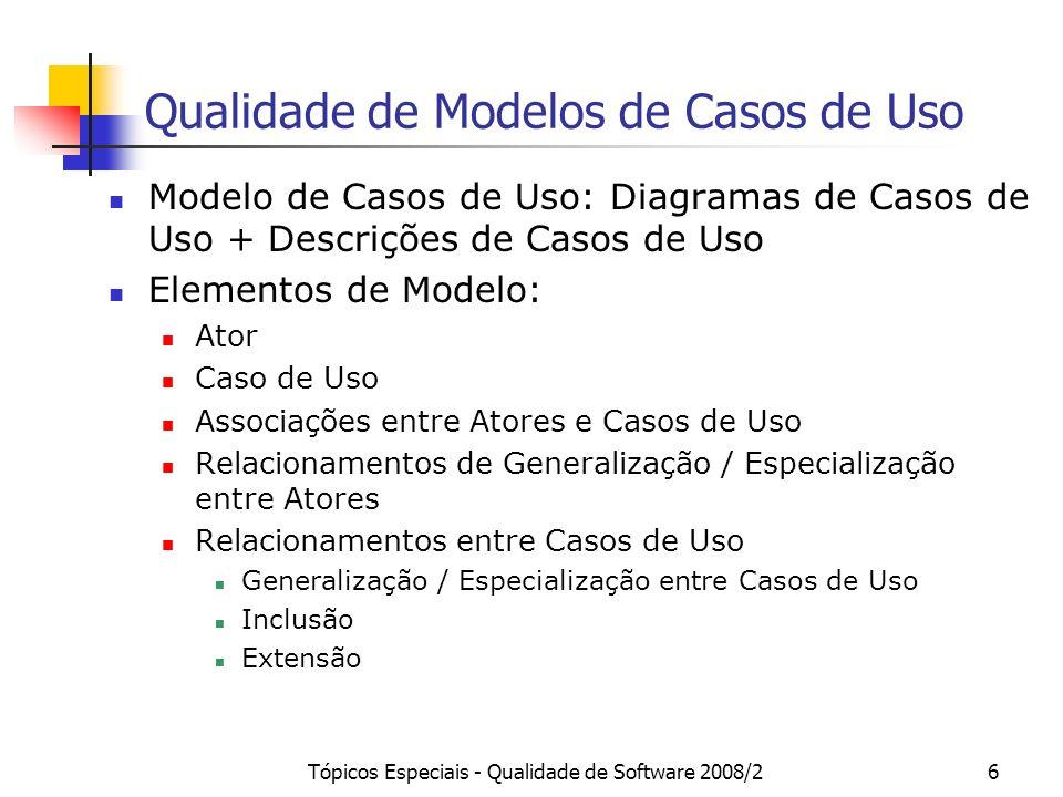 Qualidade de Modelos de Casos de Uso