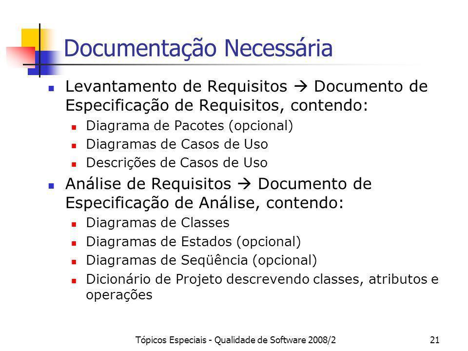 Documentação Necessária