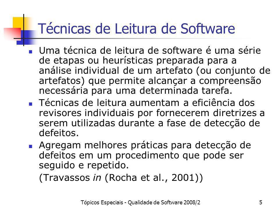 Técnicas de Leitura de Software