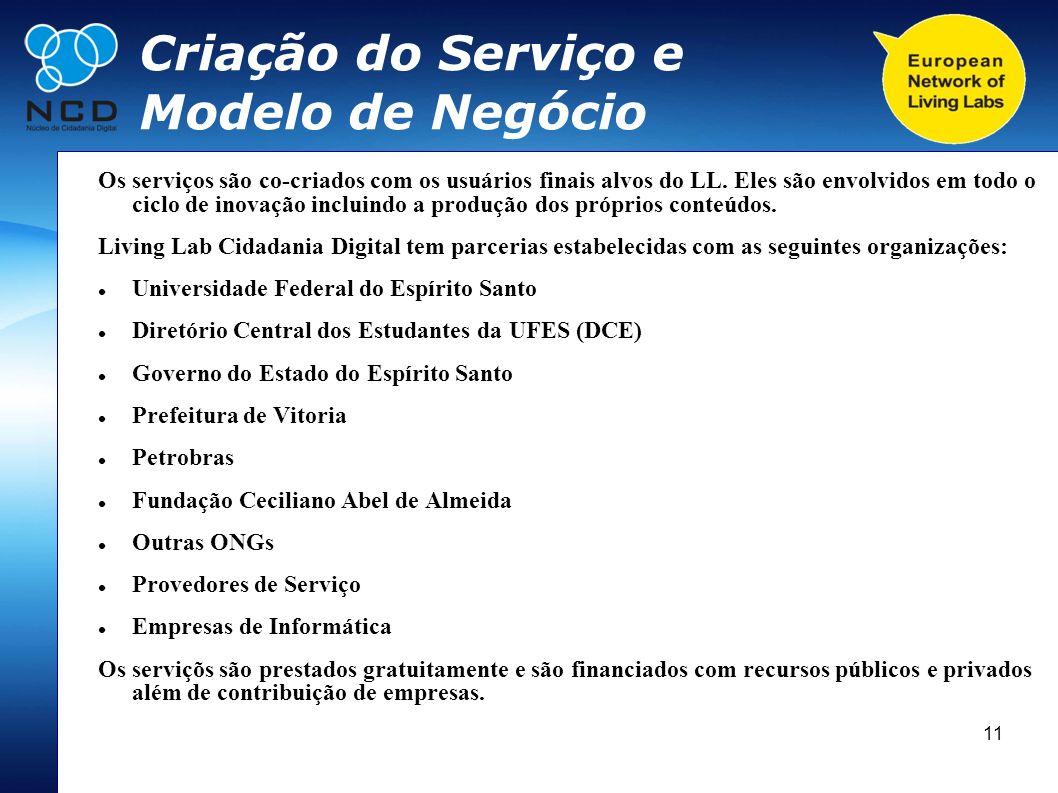 Criação do Serviço e Modelo de Negócio