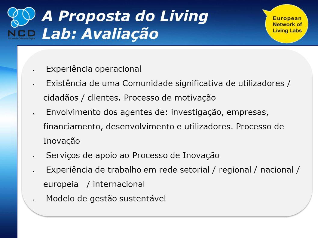 A Proposta do Living Lab: Avaliação