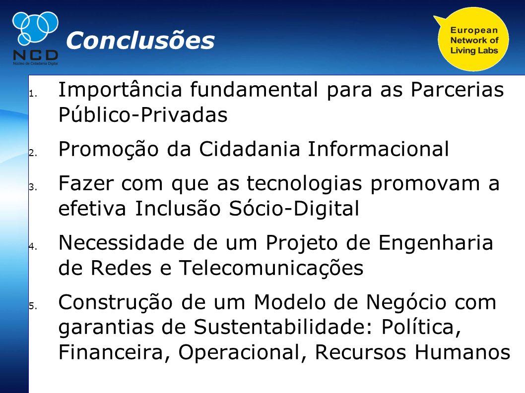 Conclusões Importância fundamental para as Parcerias Público-Privadas