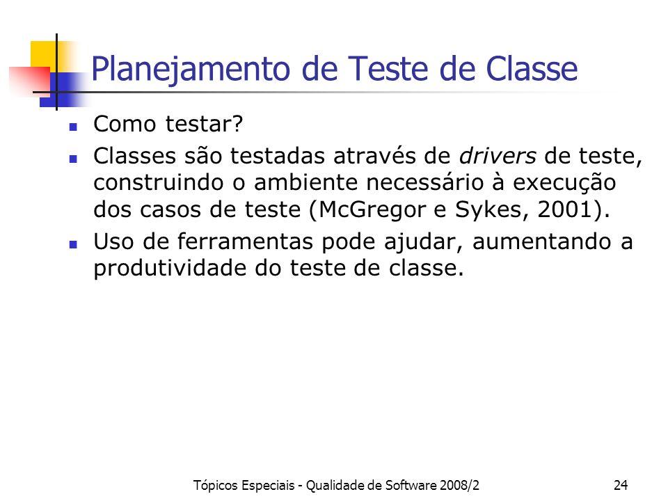 Planejamento de Teste de Classe