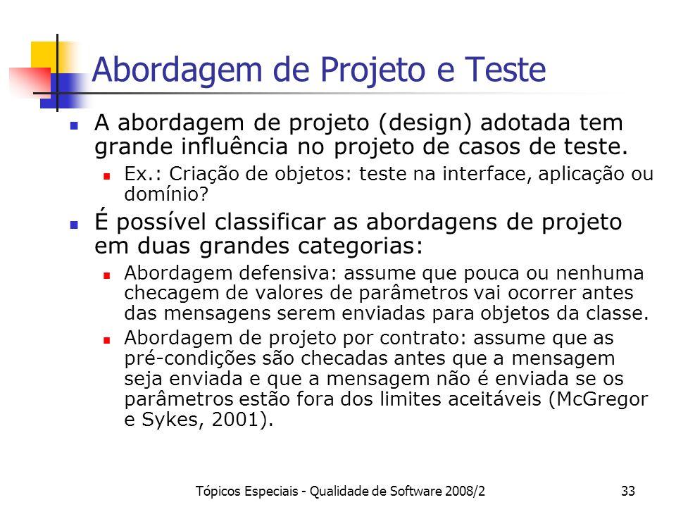Abordagem de Projeto e Teste