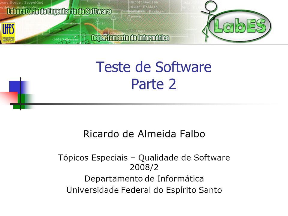 Teste de Software Parte 2
