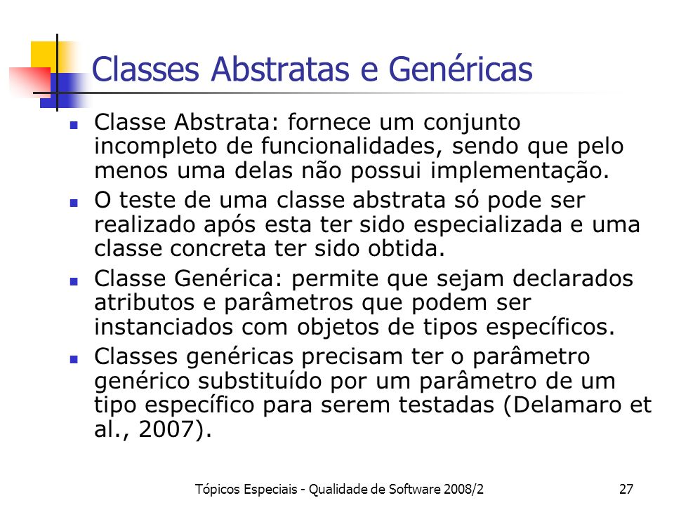 Classes Abstratas e Genéricas