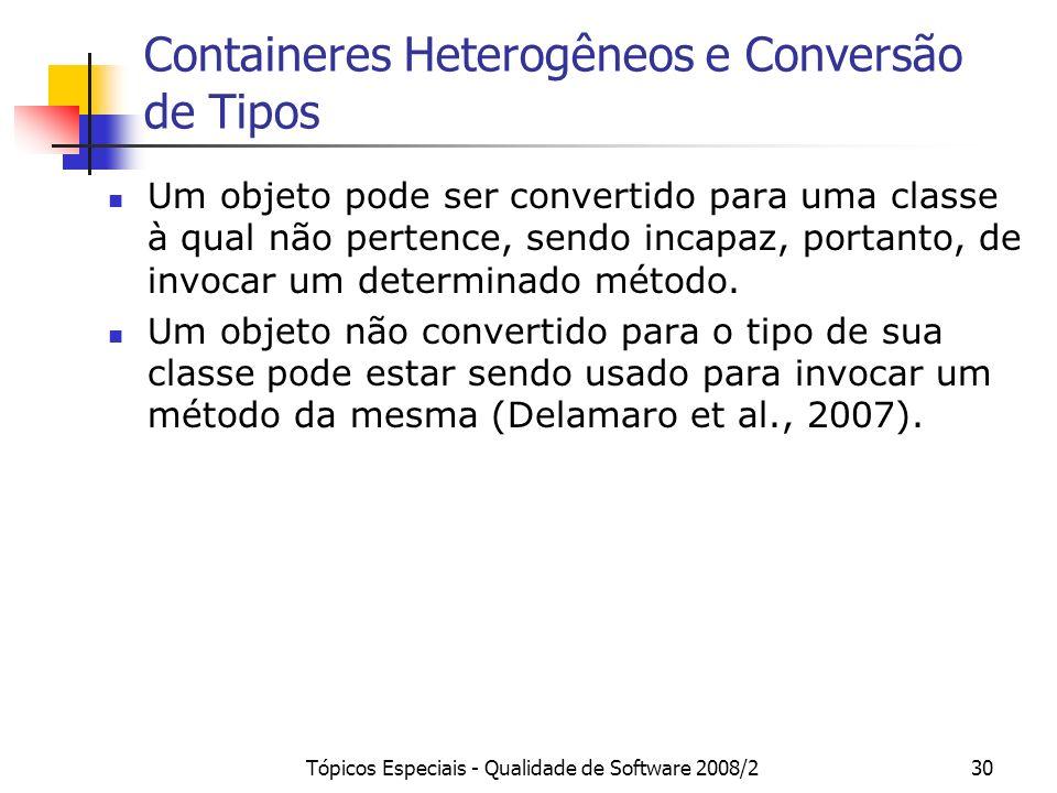 Containeres Heterogêneos e Conversão de Tipos