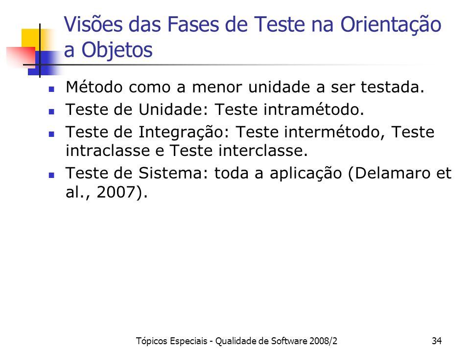 Visões das Fases de Teste na Orientação a Objetos
