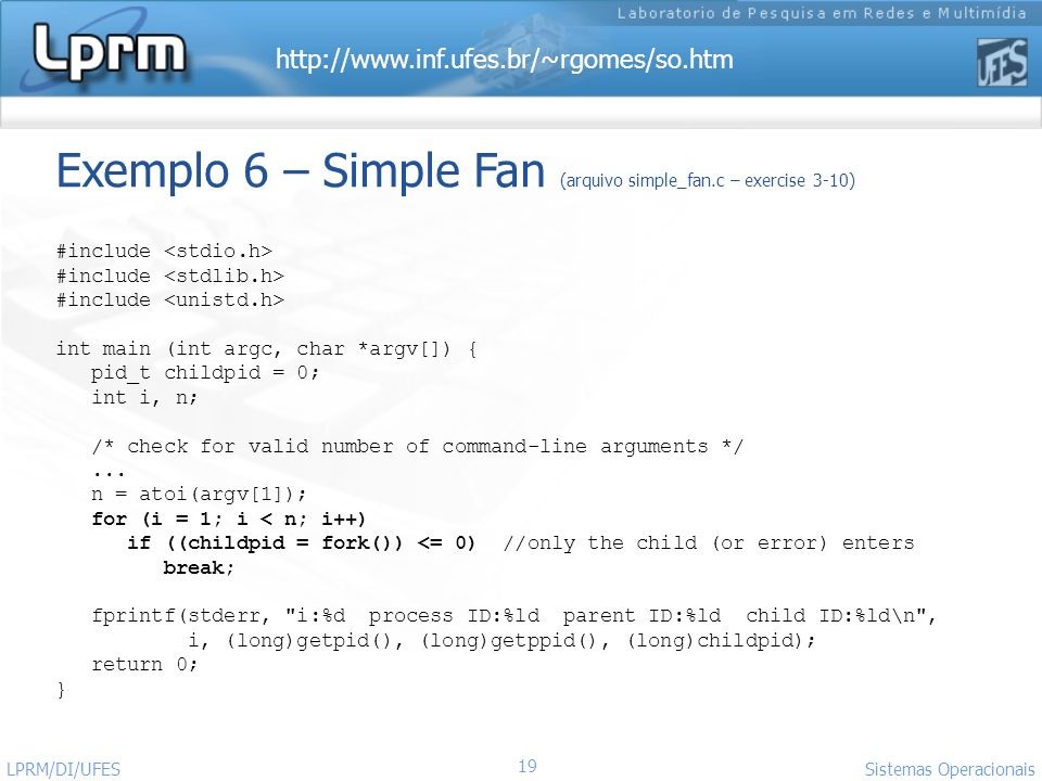 Exemplo 6 – Simple Fan (arquivo simple_fan.c – exercise 3-10)