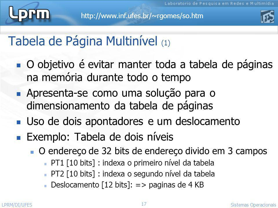 Tabela de Página Multinível (1)