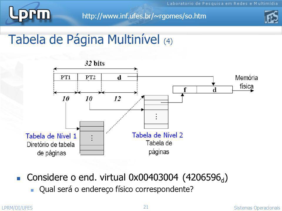 Tabela de Página Multinível (4)