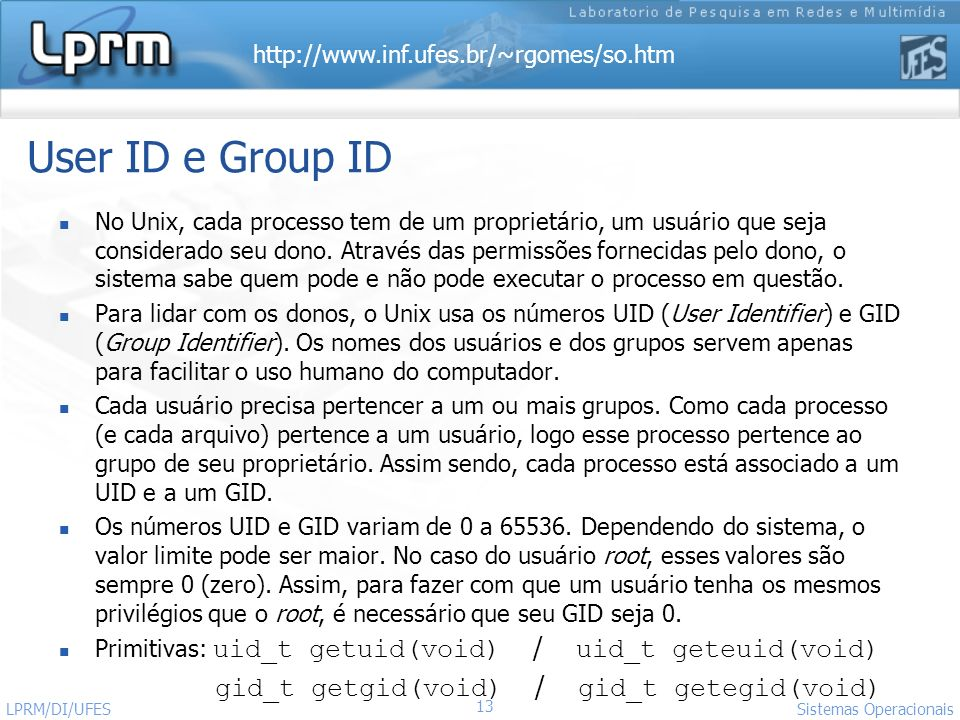 User ID e Group ID