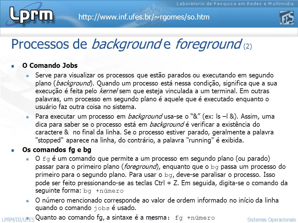 Processos de background e foreground (2)