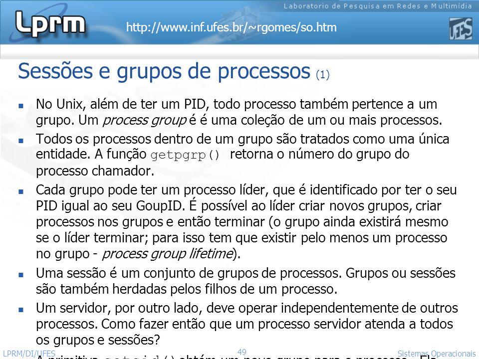 Sessões e grupos de processos (1)