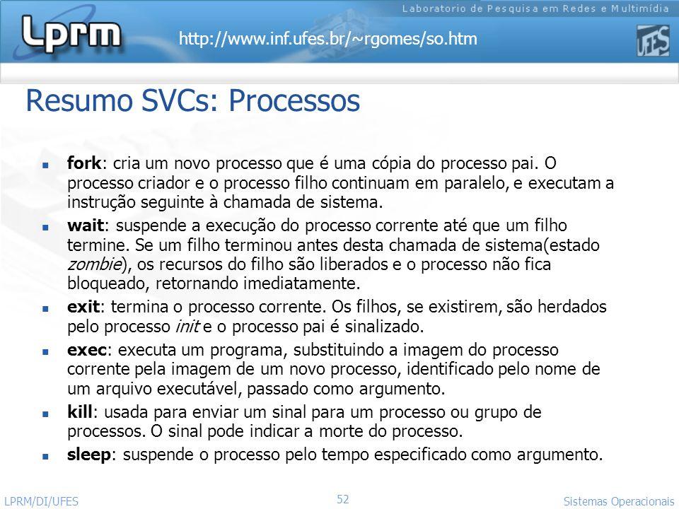 Resumo SVCs: Processos