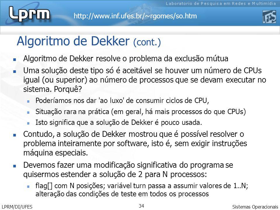 Algoritmo de Dekker (cont.)