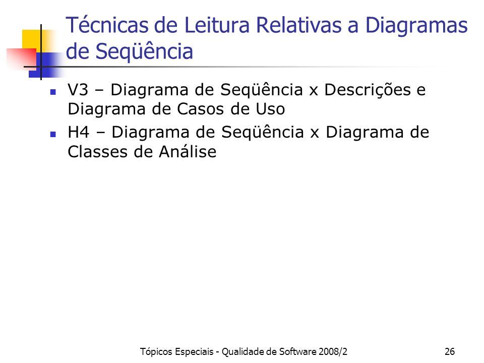 Técnicas de Leitura Relativas a Diagramas de Seqüência