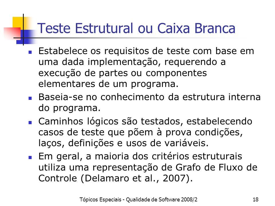 Teste Estrutural ou Caixa Branca