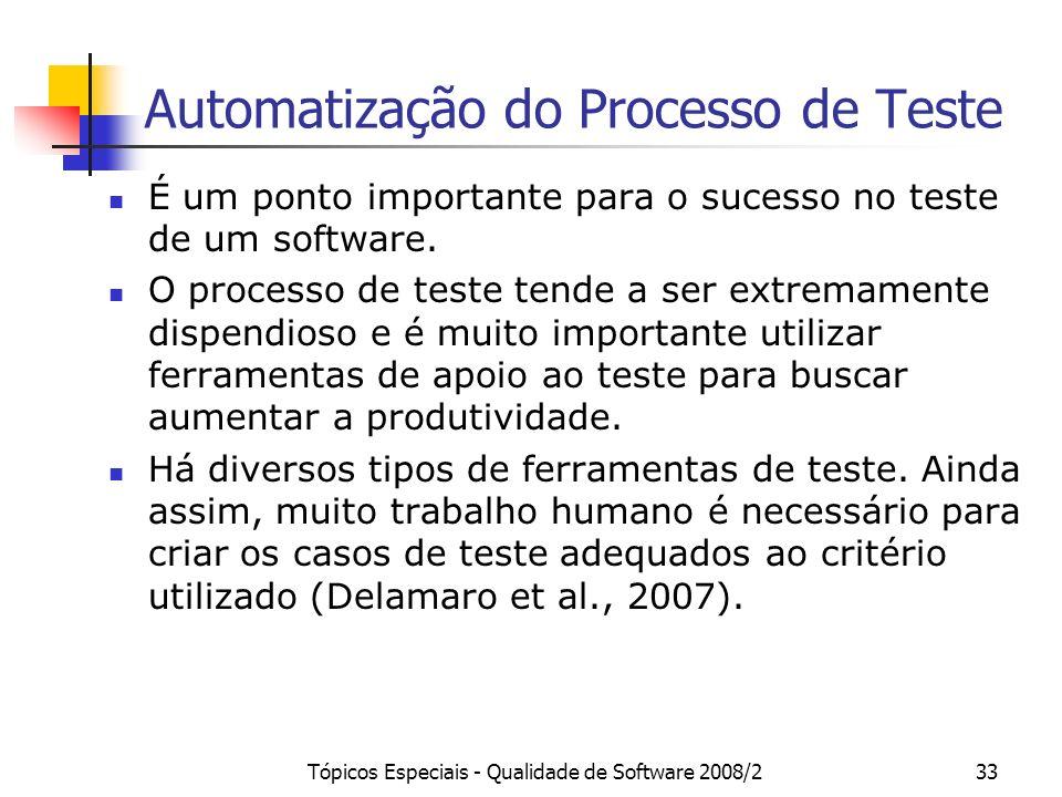 Automatização do Processo de Teste