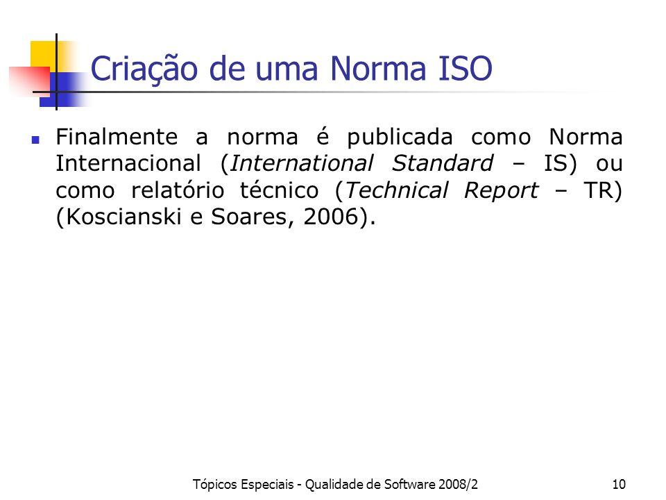 Criação de uma Norma ISO