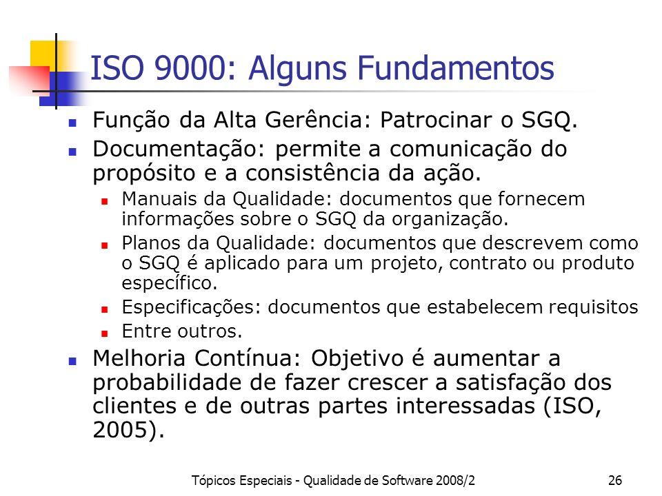 ISO 9000: Alguns Fundamentos