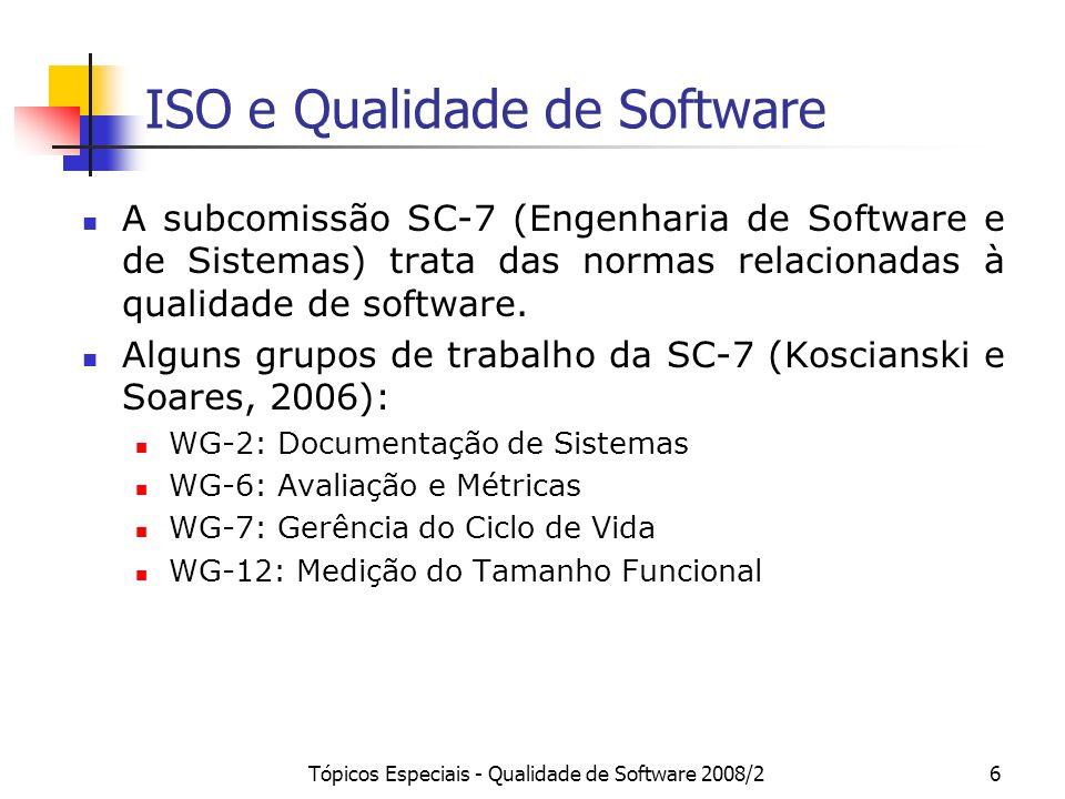 ISO e Qualidade de Software