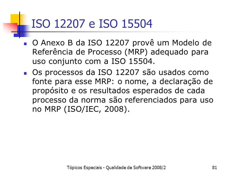 Tópicos Especiais - Qualidade de Software 2008/2